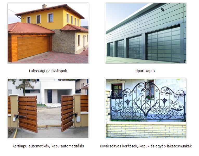 Garázs kapu, ipari kapu, kapu automatizálás, kovácsoltvas kerítés kapu - Somogyi Kaputechnika Kft.