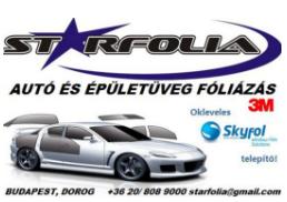 Starfolia Autó és Épületüveg fóliázás