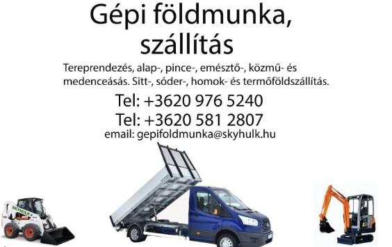 Gépi földmunka, Szállítás Budapest - Skyhulk Kft.