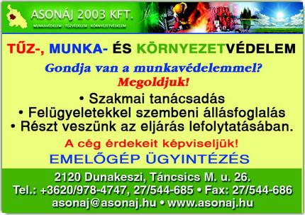 Emelőgépek Dunakeszi - ASONÁJ 2003 Kft.