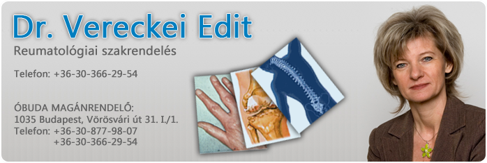 Reumatológiai szakrendelés Budapest - Dr. Vereckei Edit
