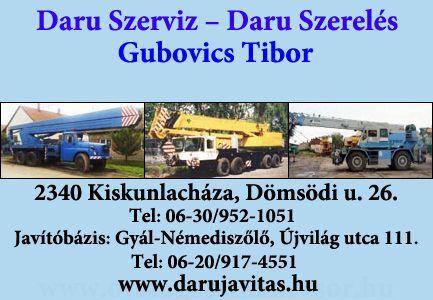 Daru Szerviz, Daru Szerelés - Gubovics Tibor, Kertészet - Gubovics Péter